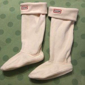 Hunter boot socks Cream LARGE 100% Polyester